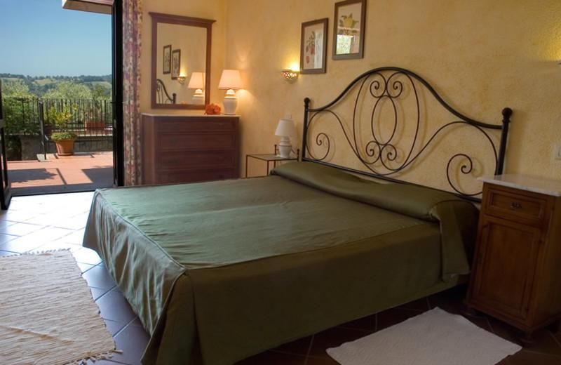 Guest room at Antico Casale di Scansano.