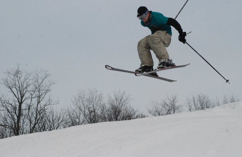 Skiing at The Homestead.
