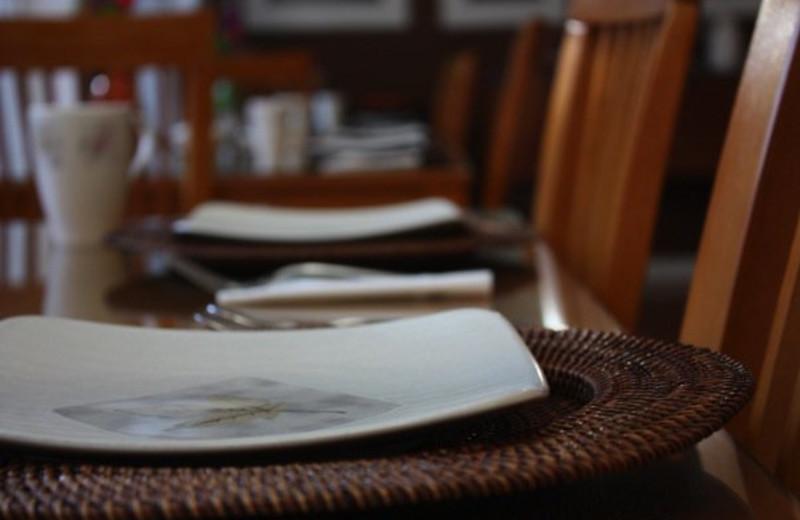 Dining at Moondance Ridge Bed & Breakfast.