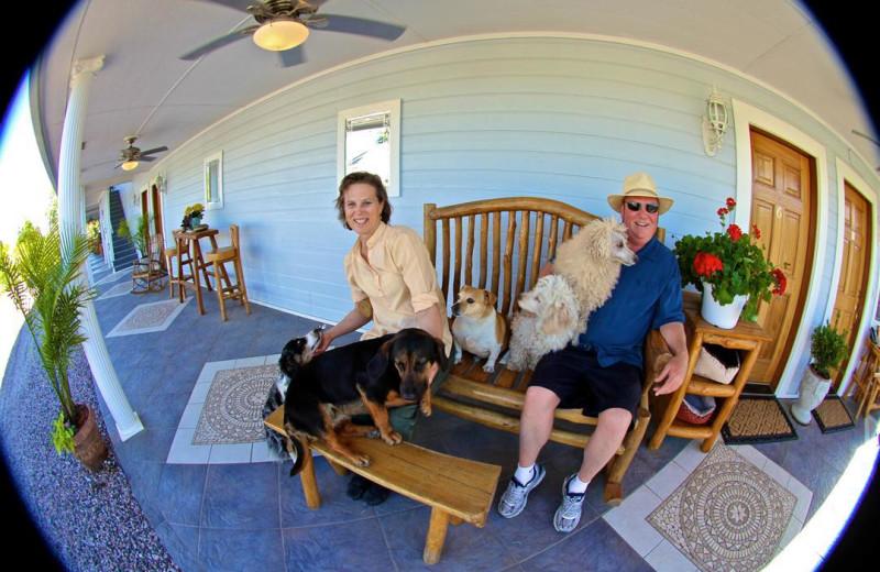 Porch at Echo Canyon Spa Resort.