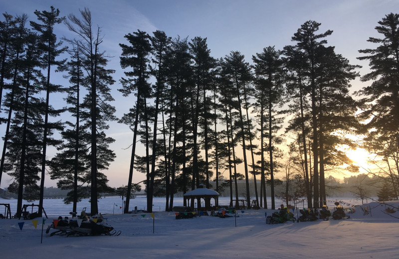 Winter at The Beacons of Minocqua.