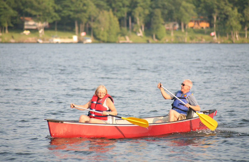Canoeing at Southview Cottages Resort.