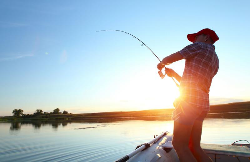 Fishing at Lake Michigan Reunion & Retreat.