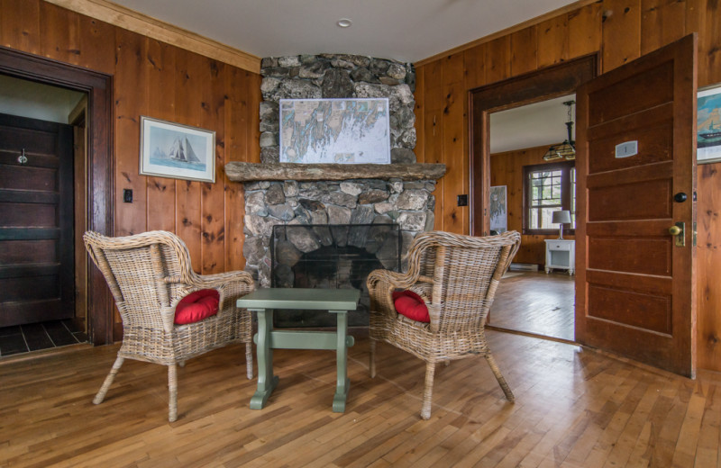Guest living room at Linekin Bay Resort.