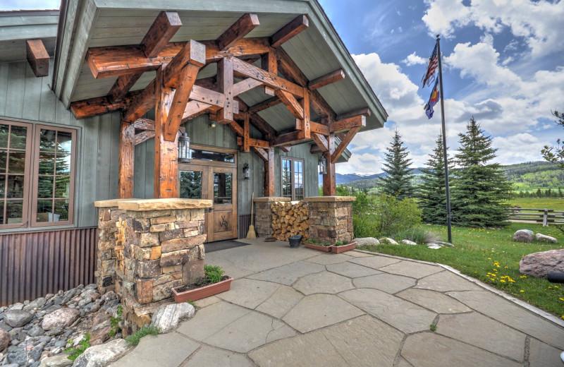 Lodge exterior at Vista Verde Ranch.