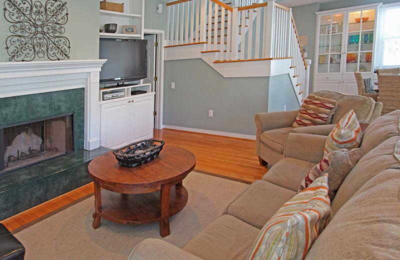 Living room at Ocean Point 18.