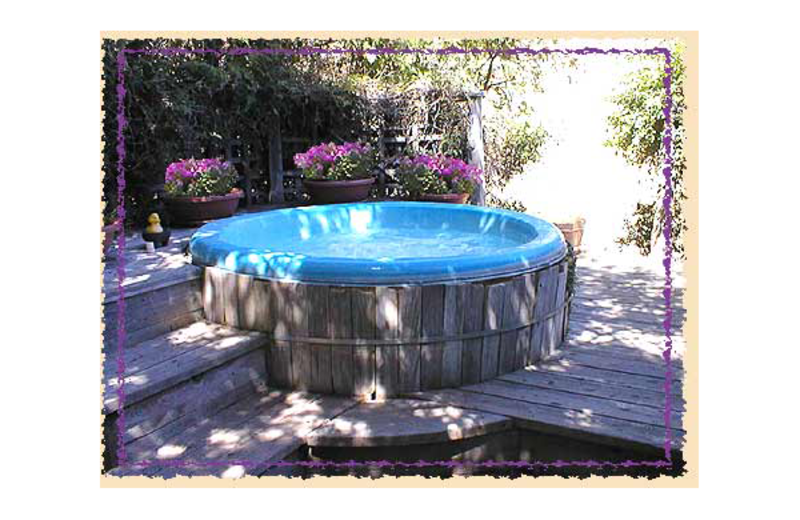 Jacuzzi at Sonoma Chalet Bed & Breakfast.