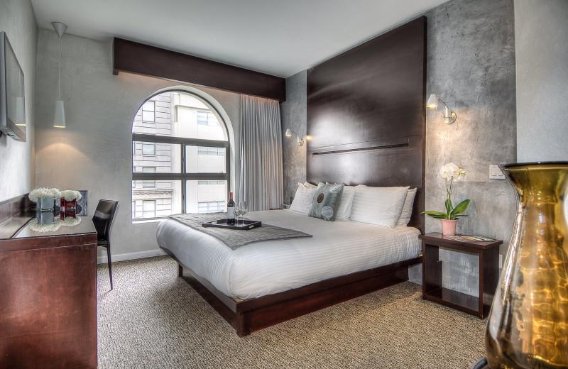 Guest room at O Hotel.