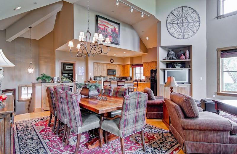 Rental kitchen at Beaver Creek Rentals by Owner.