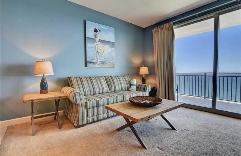 Guest living room at Splash Resort.