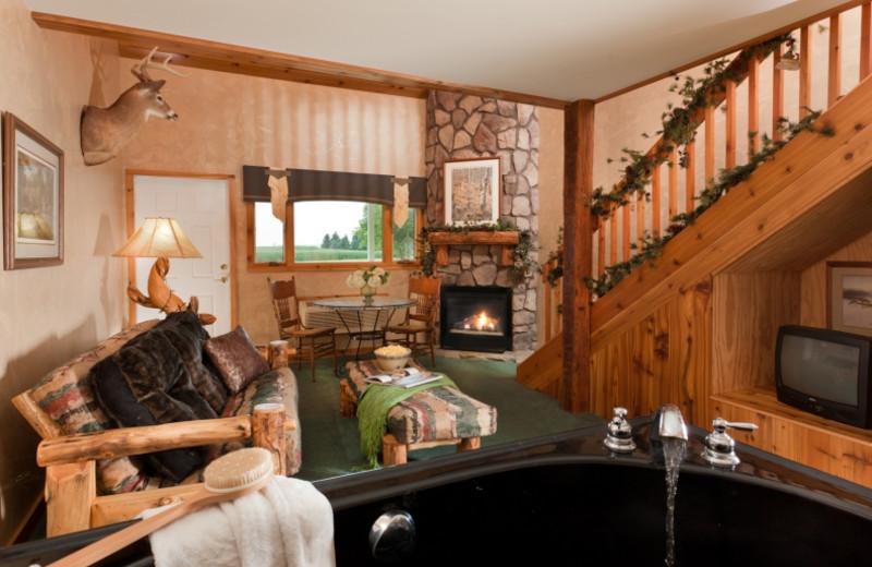 Hunter's Den living room at HideAway Country Inn.