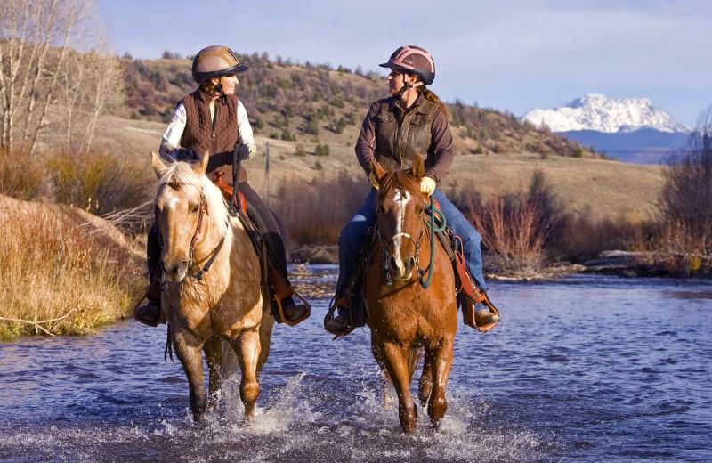 Horseback riding at C Lazy U Ranch.