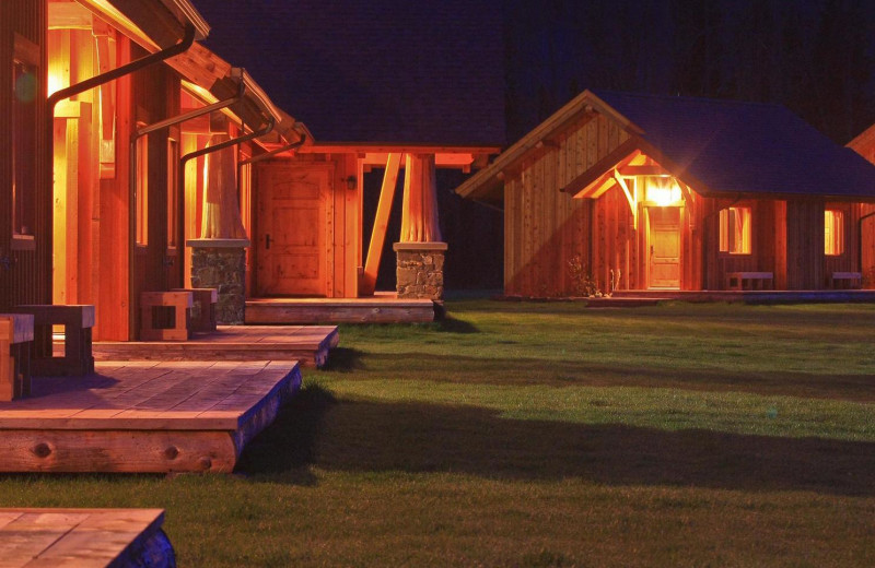 Cabins at Frontier Experience.