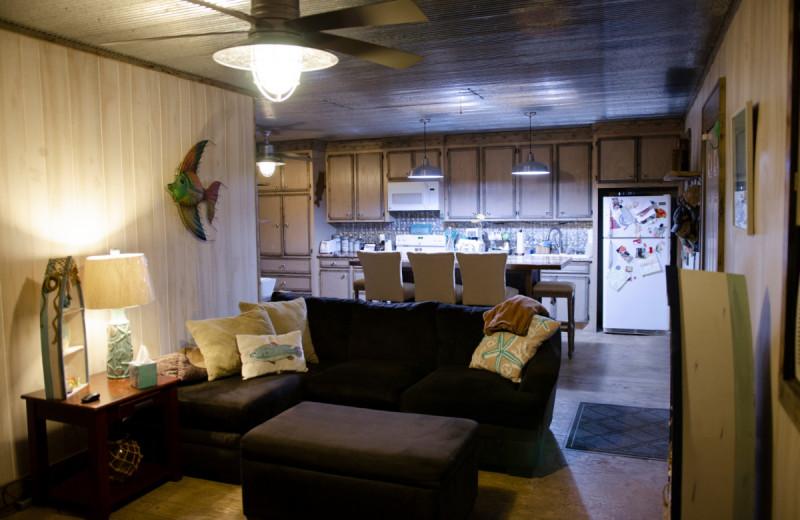 Cabin interior at Kel's Kove.