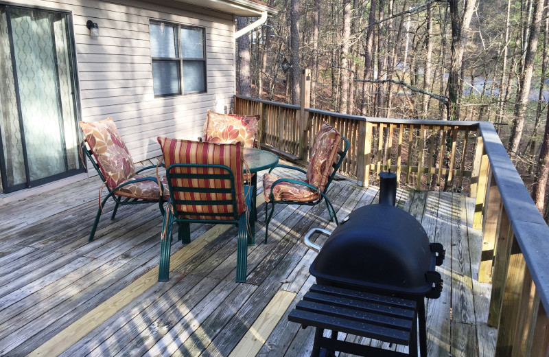 Rental deck at Hot Springs Village Rentals.