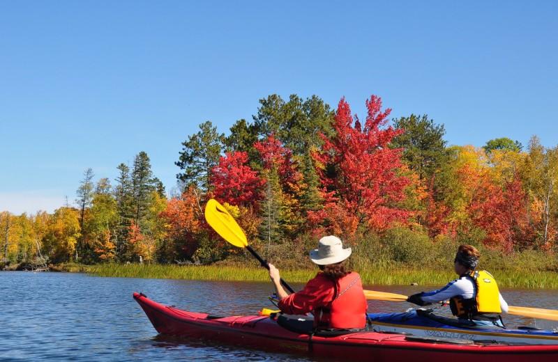 Kayaking at Northwoods Lodge.