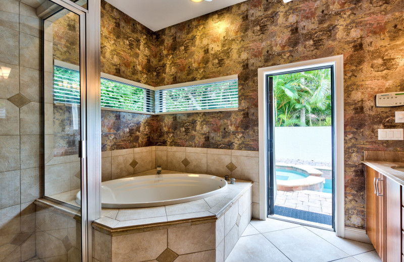 Rental bathroom at Naples Florida Vacation Homes.