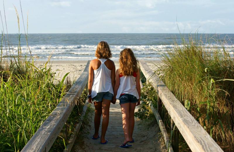 Boardwalk near Fripp Island Golf & Beach Resort.
