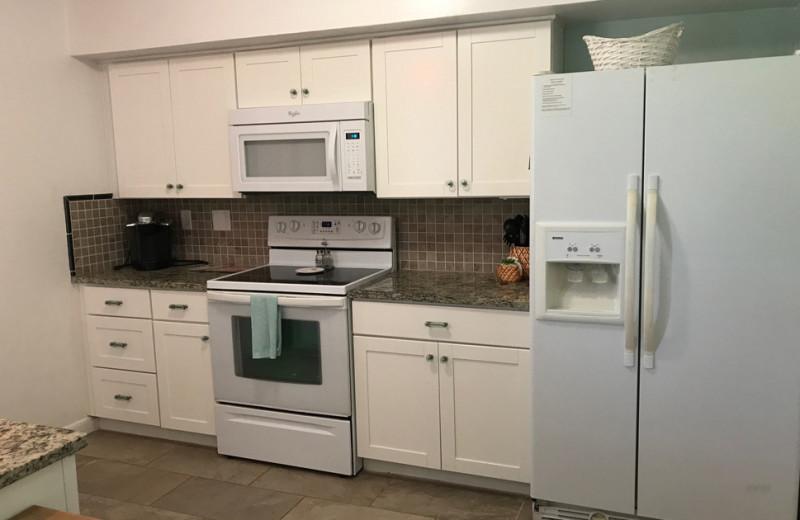 Rental kitchen at Saint Augustine Beach Vacation Rentals.