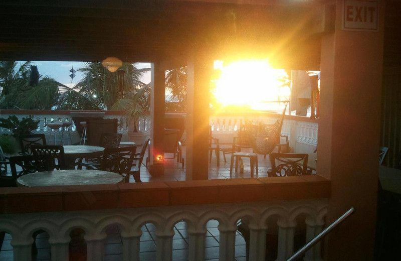 Dining at Luquillo Sunrise Beach Inn.