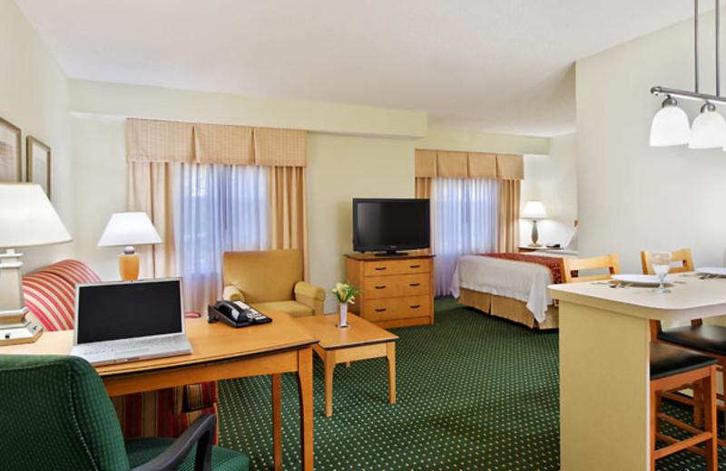 Guest room at Residence Inn Detroit Novi.