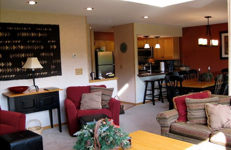 Vacation rental interior at Highridge Condominiums.