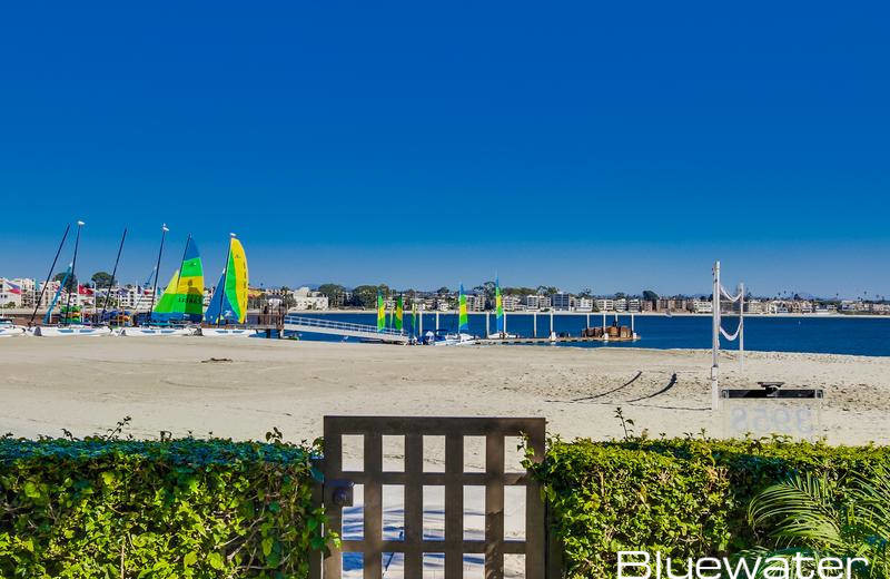 Rental beach at Bluewater Vacation Homes.