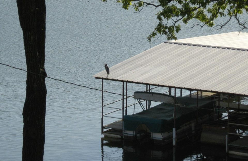 Covered boat dock at Artilla Cove Resort.