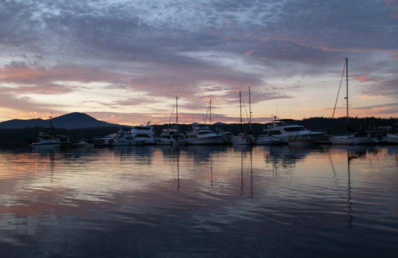 Sunset at Shearwater Resort & Marina.