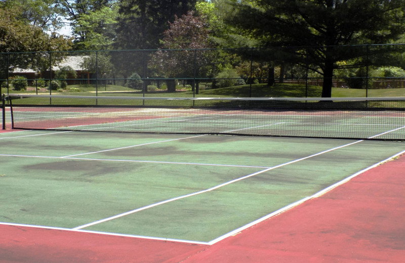 Tennis court at Garland Lodge and Resort.