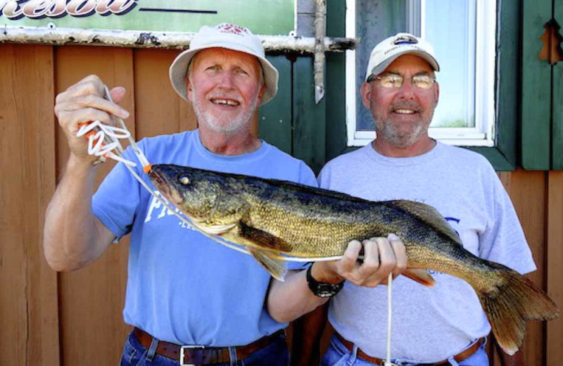 Walleye at Brennan Harbour Resort.