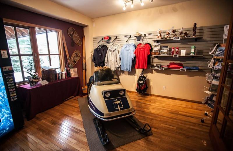 Gift shop at Glacier House Resort.