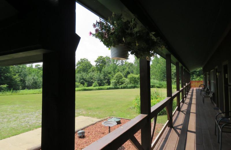 Porch at Tug Hill Resort.