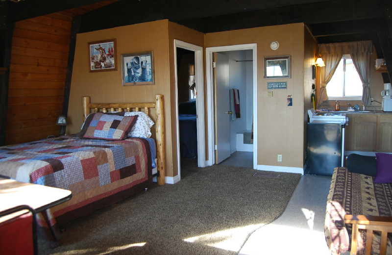 Cabin interior at The Drift Lodge.