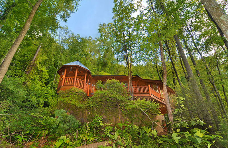 Cabin exterior at American Mountain Rentals.