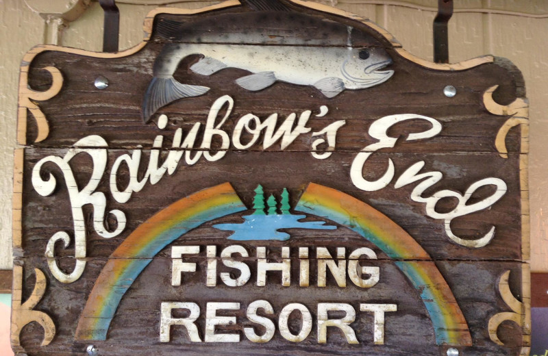 Sign at Rainbow's End Resort.