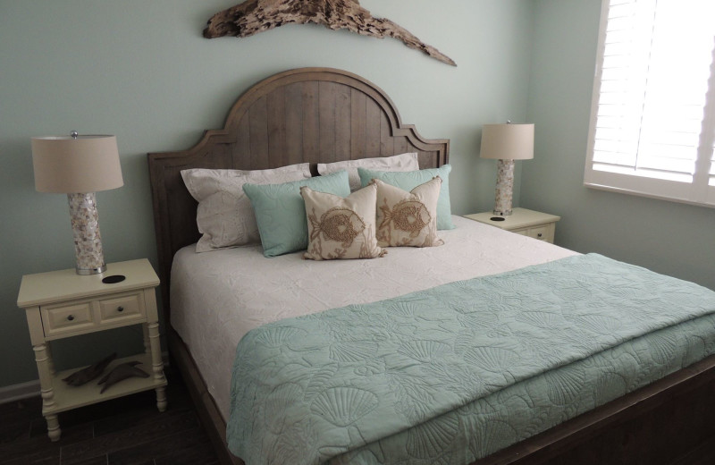 Rental bedroom at The Islander in Destin.