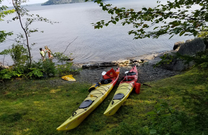 Kayaks at The Birches Resort.