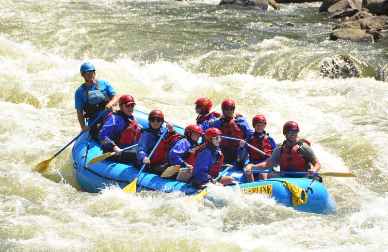 River rafting at Black Wolf Lodging.