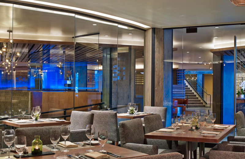 Dining room at The Westin Snowmass Resort.
