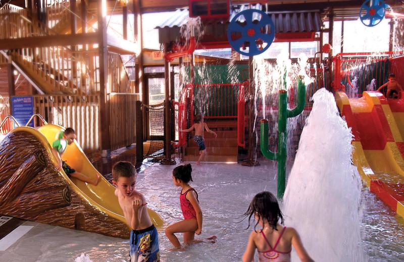 Indoor water park at Rocking Horse Ranch Resort.