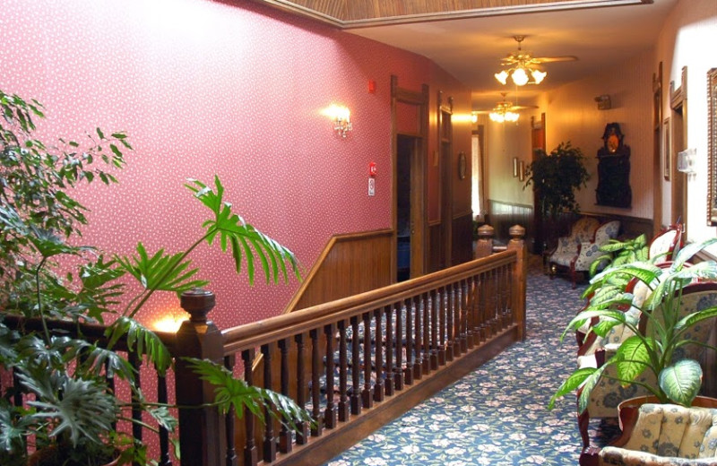 Hallway at Grand Central Hotel.