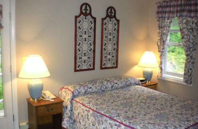 Bedroom at The Lodge at Camden Hills.