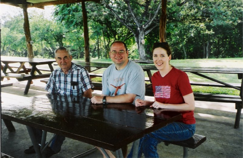 Picnic area at Twin Elm Ranch.