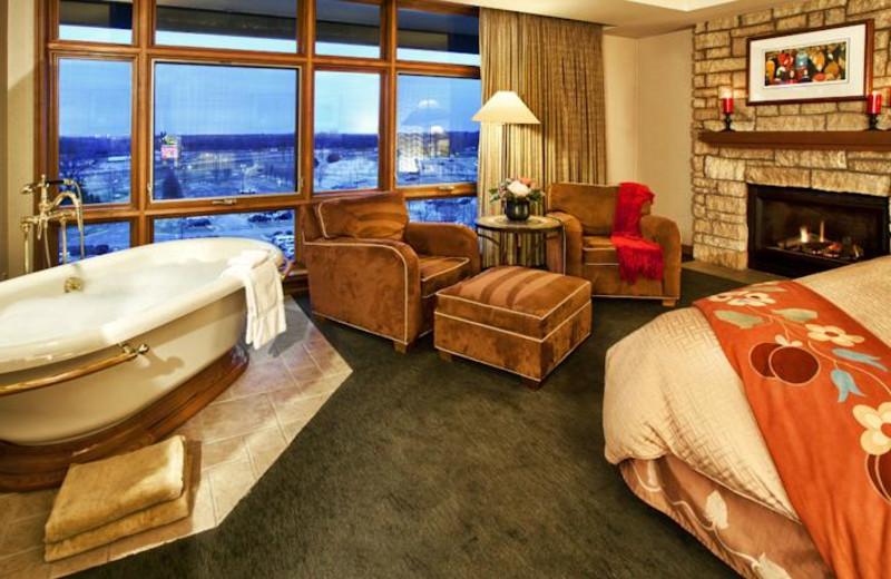 Guest suite at Soaring Eagle Casino & Resort.