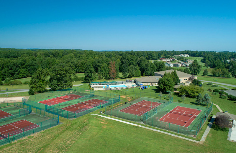 Tennis court at Mariners Landing.