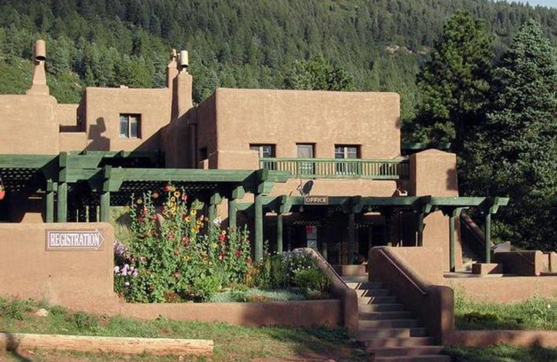 Exterior view of Monument Lake Resort.
