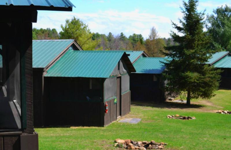 Cabins at Twin Pines Resort.