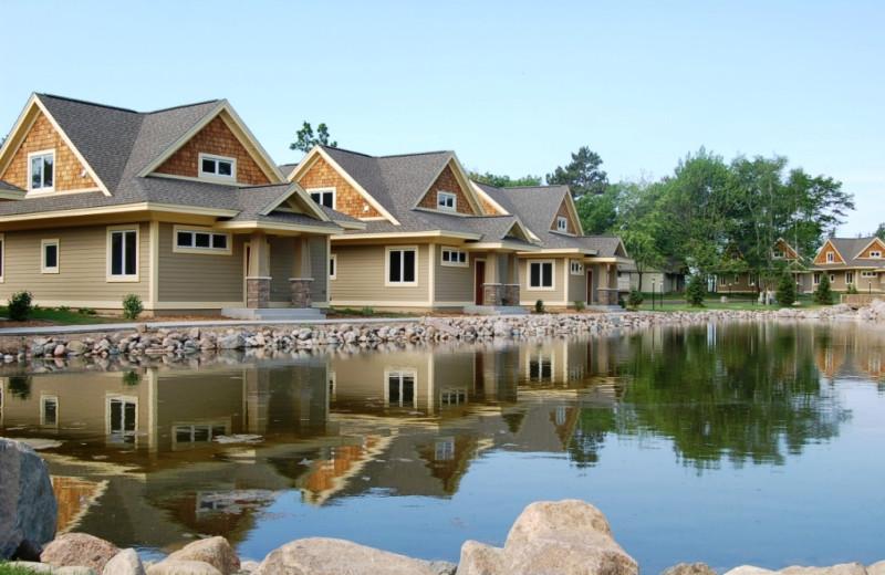 Cabin exteriors at Kavanaugh's Sylvan Lake Resort.
