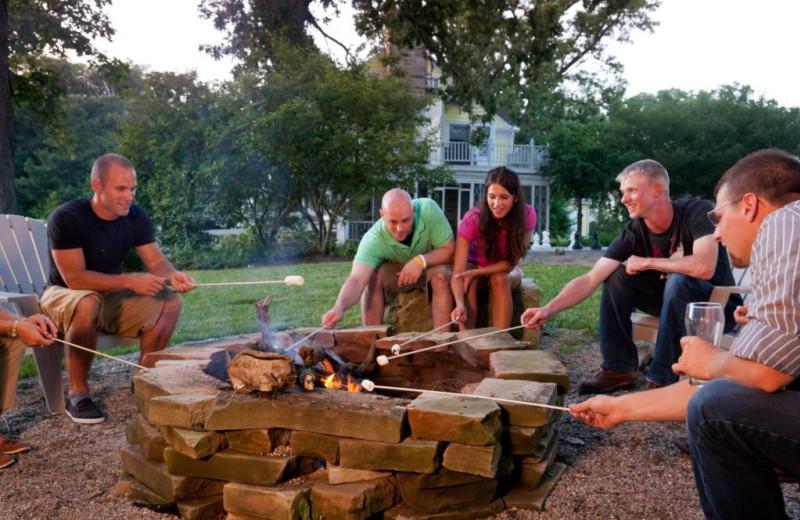 Bonfire at HideAway Country Inn.